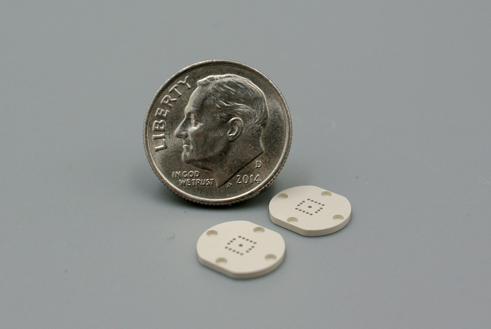 ceramic peek part micromachining